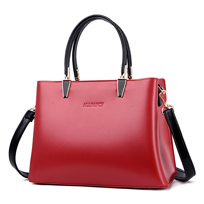 High Quality Leather Tote Bag Women 2019 Luxury Handbags Women Bag Designer Large Capacity Messenger Shoulder Bag Red Bolsos Sac in Top Handle Bags from Luggage Bags