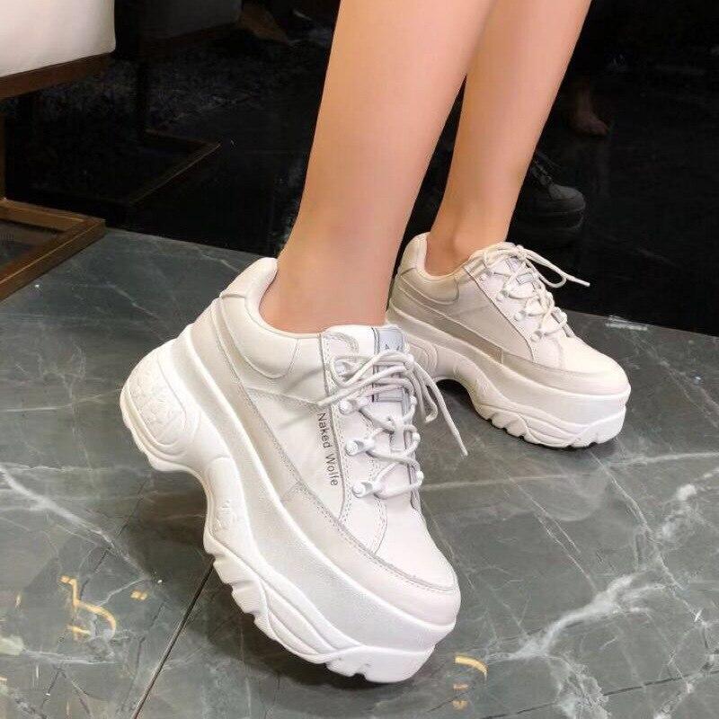 여성 브랜드 패션 높은 허리 높은 부츠 가을과 겨울 플랫폼 신발 클래식 편안한 캐주얼 신발 스포츠 신발 여성-에서여성용 펌프부터 신발 의  그룹 1