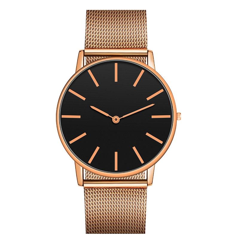 Fashion Big Brand Women Stainless Steel Strap Quartz Wrist Watch Luxury Simple Style Designed Watches Women's Clock
