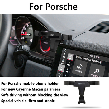 Car Mobile Phone Support Air Vent Mount Bracket Cell Holder for Porsche Macan Cayenne Paramela 718 2017 2018 2016 2020 - discount item  20% OFF Interior Accessories