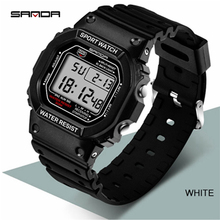 SANDA 329 Fashion Top Brand Professional Sports Watch Men Women Waterproof Military Watches Shock Men's Analog Quartz Digital