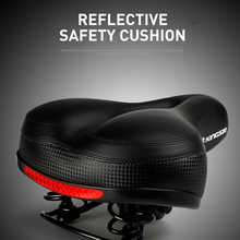 Bicycle Seat Cushion Breathable Big Butt Saddle High Reflective Safety Comfortable Thick Soft Accessories