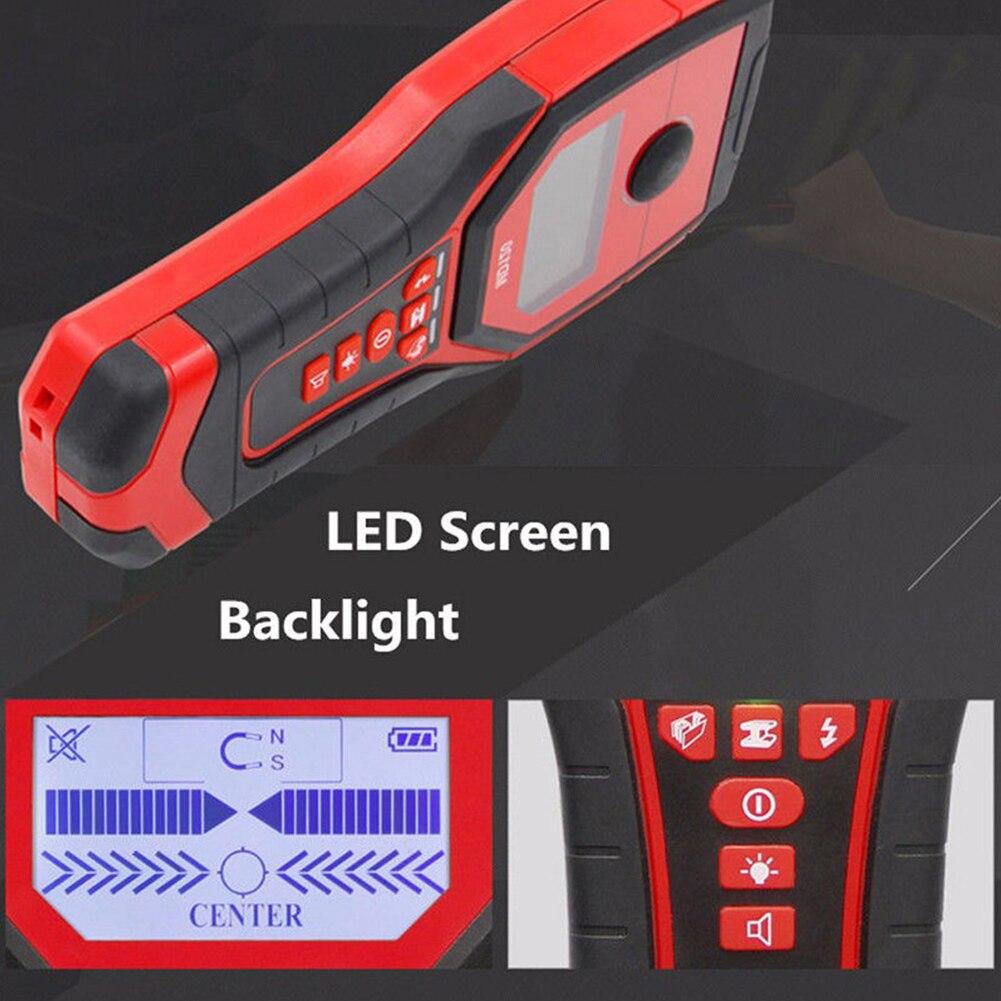 Détecteur de métaux multifonctionnel MD120 sensible détecteur de mur de bois en direct goujons de fil Scanner LCD affichage métal Finder offre spéciale - 3