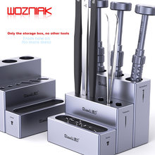 QIANLI iCube-caja de almacenamiento de aleación de aluminio destornilladores y pinzas, estante de almacenamiento magnético con tornillo, combinación de módulo multifunción
