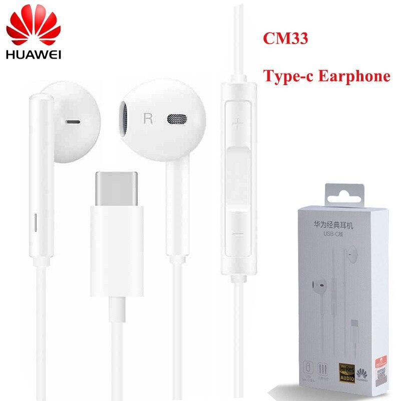 HUAWEI CM33 Тип C наушники с микрофоном и регулятором громкости для HUAWEI мате 40 30 20 10 Pro X RS P40 P30 P20 Pro P40pro + 5G Nova 8 Pro