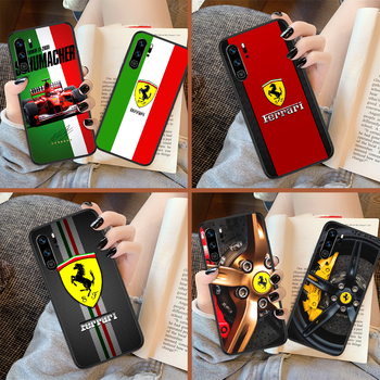 Ferrare Luxury Sport Car F1 Racing Phone Case For Huawei P Mate Smart 10 20 30 40 Lite Z 2019 Pro black Etui Silicone Cover image