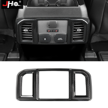 JHO ABS Carbon Grain Rear Center Console Panel Vent Outlet Cover Trim For Ford F150 RAPTOR 2015 2020 2018 2019 2017 Accessories