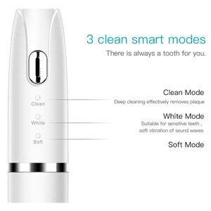 Image 3 - Escova de dentes elétrica, para adultos, à prova dágua, ultrassônica, automática, de limpeza do rosto