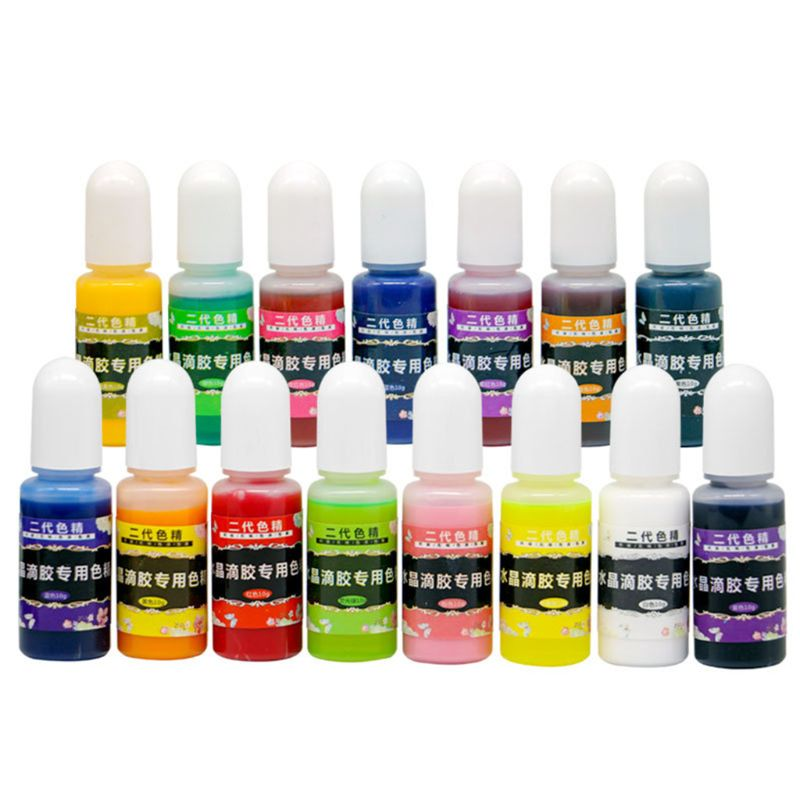 12 Pcs/set DIY Handmade Crystal Epoxy Pigment UV Oily Resin Dye Coloring DIY Jewelry Making Tools