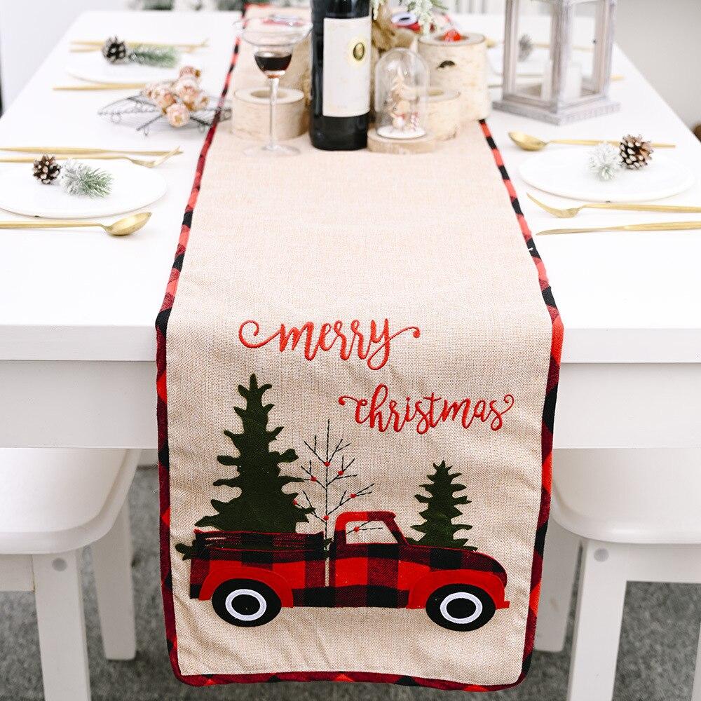 Купить креативная рождественская настольная дорожка клетчатые рождественские