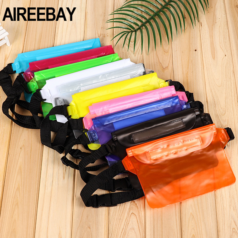 AIREEBAY Waterproof Women Fanny Pack Drift Diving Swimming Waist Bag Underwater Dry Waist Pack Pocket Skiing Chest Pouch