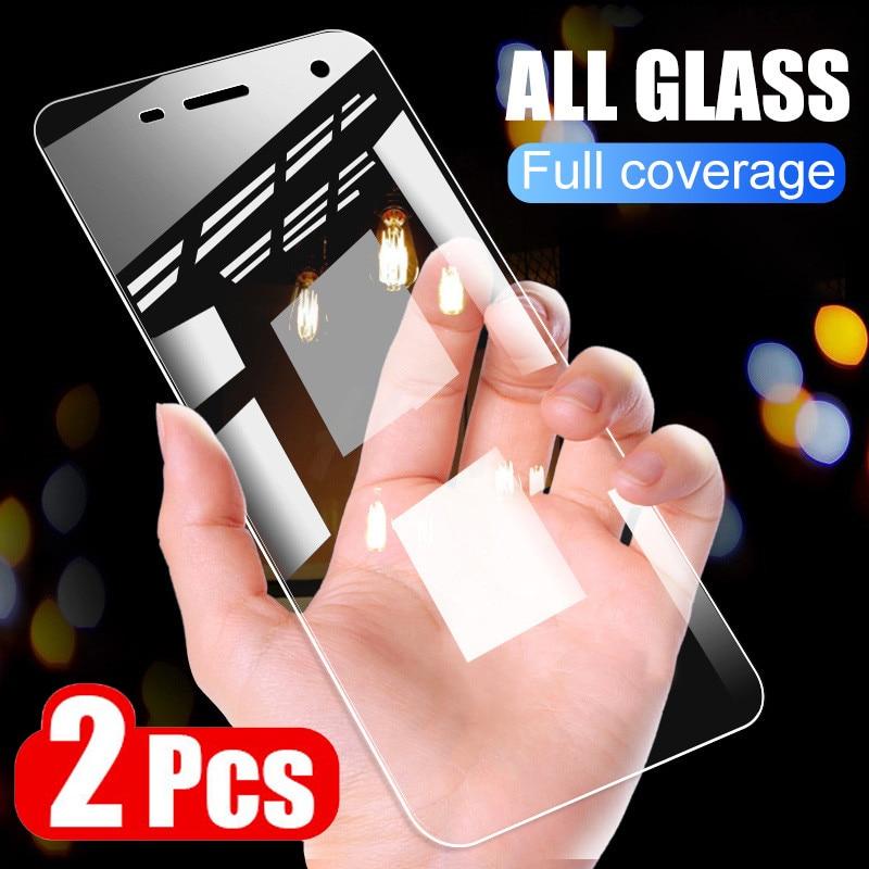 2 protectores de pantalla de vidrio templado para Sony Xperia XZ XZ1 XZ2 Premium XA XA1 XA2 Ultra X XZ1 XZ2 película protectora de vidrio compacto