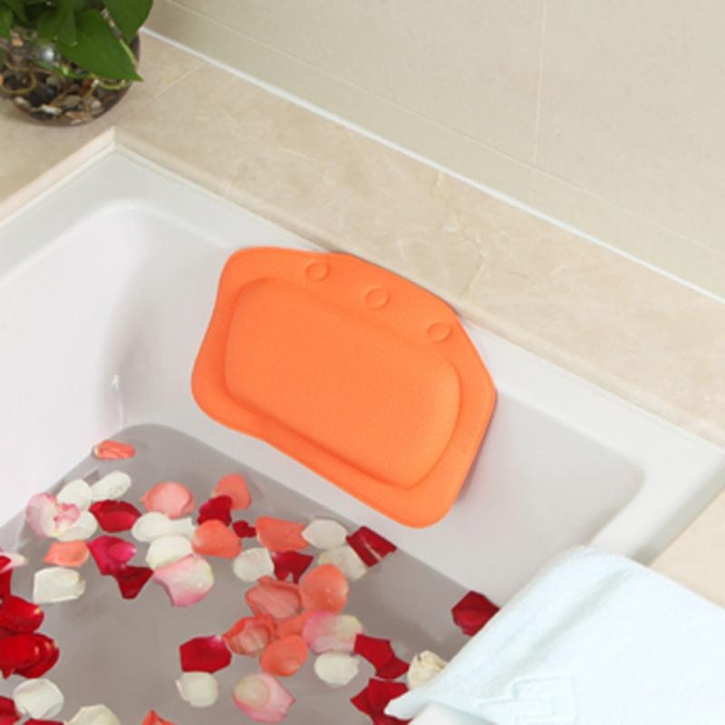 SPA Bath Pillow Home Bathtub Pillow PVC Neck Bathtub Cushion Neck Support Pillow Soft Headrest Suction Cup Bathtub Pillow