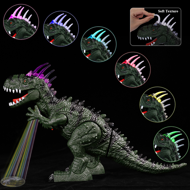TEMI Electric Dinosaurs Sound Light Toy Excavation Robot Jurassic Animals T Rex Educational Toys for Childrens Boys 2