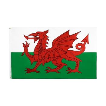 Xiangying-drapeau de dragon rouge | 90x150cm, pays de galles, Cymru