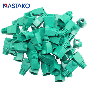 Image 3 - Nastako Cat5 Cat5e Cat6 RJ45 Connector Cap Cover Boot RJ45 Ethernet Kabel Connector Netwerk Modulaire Plug Laarzen 6.0 Mm Kleurrijke