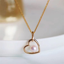 лучшая цена S925 Sterling Silver New Design Women Jewelry Pearl Double love Pendant Short Style Necklace Trendy Plant Accessories Neck Chain