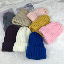 цены на Wool Knitted Beanies Unisex Tall Top Hip Hop Hats Fashion Street Skullies Men Women Casual Solid Skullcap Warm Autumn Winter  в интернет-магазинах