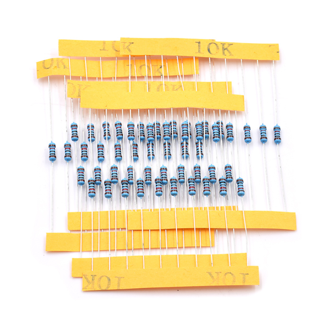 600Pcs 1% Precision 1/4W Metal Film Resistor Assorted Kit