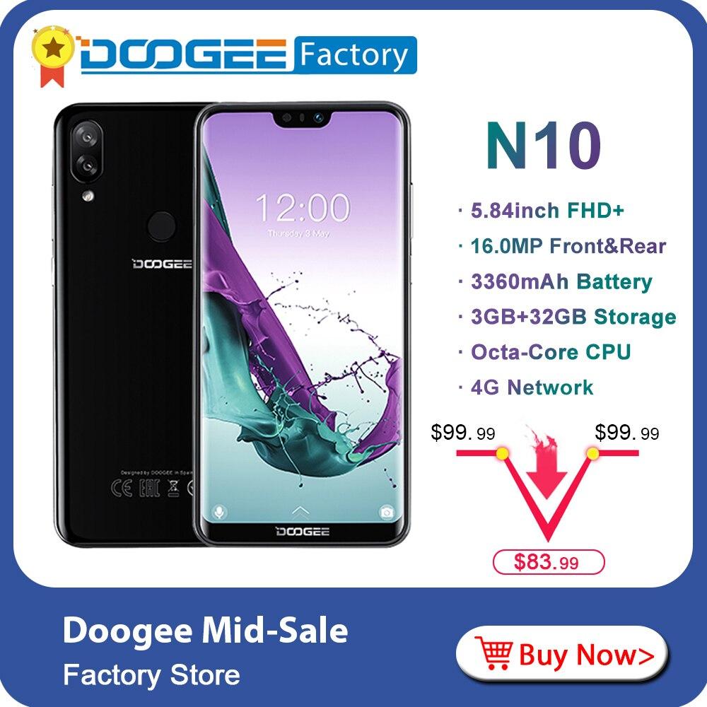DOOGEE N10 Octa Core 3GB RAM 32GB ROM mobile Phone 5 84inch FHD 19 9 Smartphone