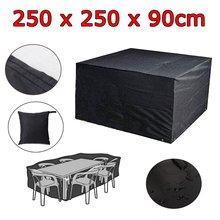 250X250X90cm 210D Oxford Cloth Waterproof Dustproof Furniture Covers Garden Patio Sofa Table Chair Sun Rain Protection Cover