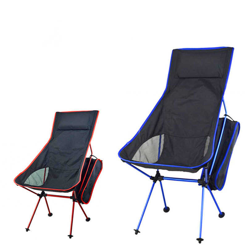 Foldable Fishing Chair Recreational Fishing Gear Camping Stool Seat for Yard