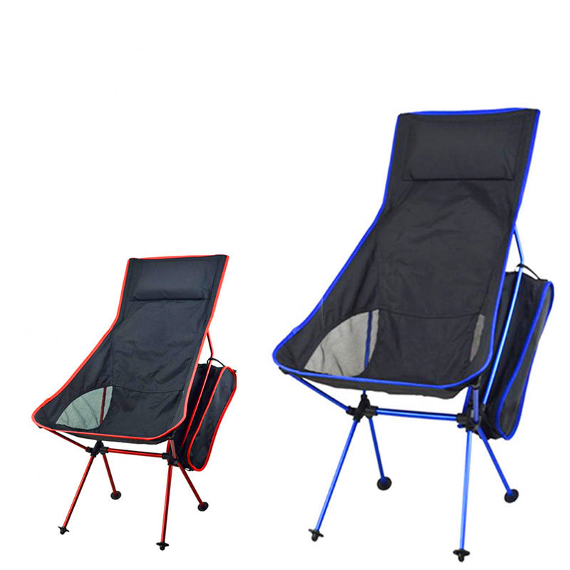 Light Moon Chair Lightweight Fishing Camping BBQ Chairs Folding Extended Hiking Seat Garden Ultralight Office Home Furniture
