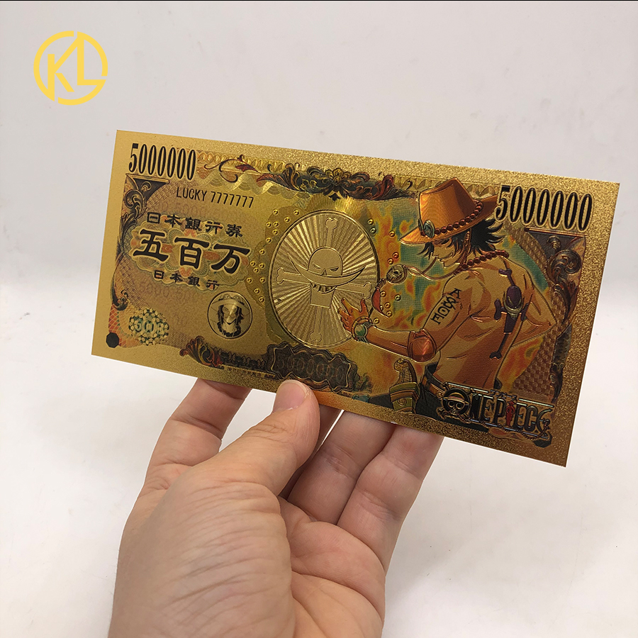 1 шт., коллекционная Золотая банкнота, размер 5000000 иен
