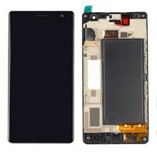 цена на Top quality LCD Screen and Digitizer Full Assembly with Frame for Nokia Lumia 730