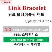 1:1 band für Apple uhr Link armband Apple uhr 5 4 3 2 1 44mm 40mm iwatch gurt 42mm 38mm edelstahl metall armband