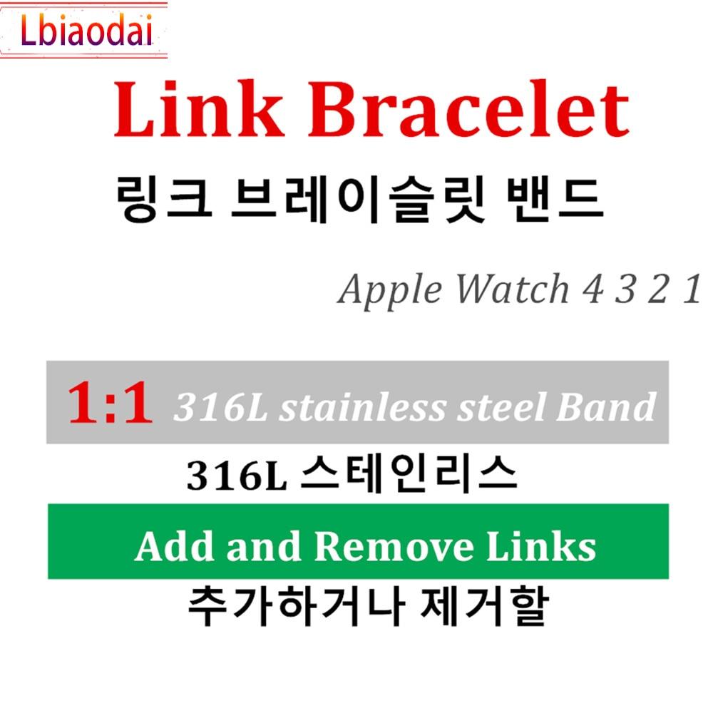 1:1 bracelet pour montre Apple lien bracelet montre Apple 5 4 3 2 1 44mm 40mm iwatch bracelet 42mm 38mm acier inoxydable bracelet de montre en métal