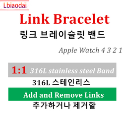 Original 1:1 band for Apple watch Link bracelet Apple watch 4 44mm 40mm iwatch 3 strap 42mm 38mm stainless steel metal watchband