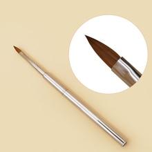 цена на 1PC Kolinsky Sable Acrylic Nail Art Brush Size No.4 UV Gel Carving Pen Brush Liquid Powder DIY Nail Drawing Cosmetic Pen B016