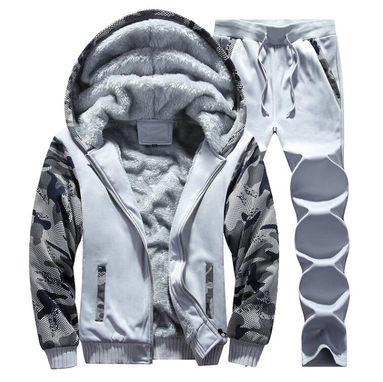 Sweat Suits Winter Mens Warm Set Fleece Track Suits For Men Tracksuit Brand Thicken Clothing Mens Suits Male Brand Clothing