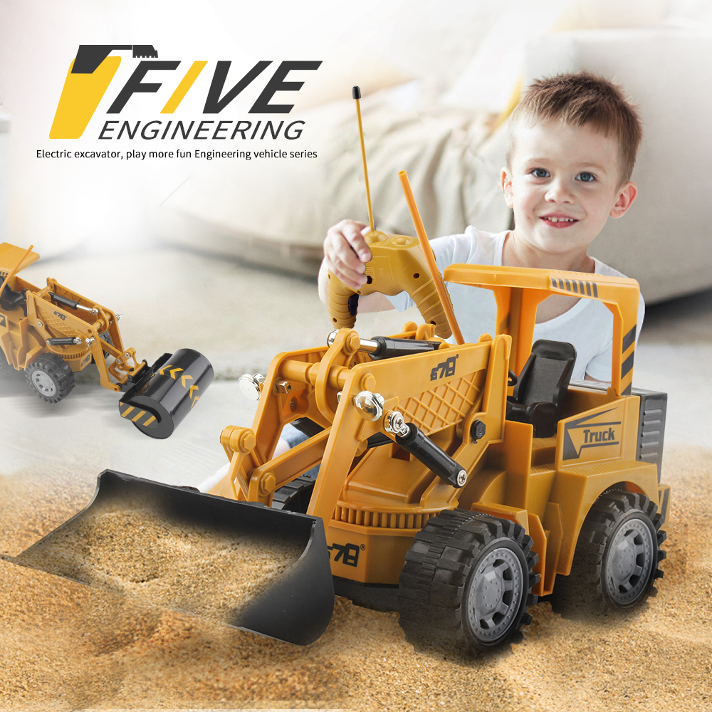 1:24 Remote Control Truck 5 Channel Battery Powered Radio Control Engineering Vehicle Remote Control Simulation Engineering Car