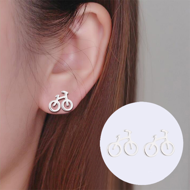 Jisensp Newest Mini Needle Earings Women Jewelry Cute Chic Pearl Stud Earrings Pendientes Small Star Moon Earing Brincos