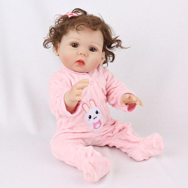 18Inch Bebe Reborn Baby Girl Dolls Full Body Silicone Vinyl Realistic Bebes Boneca Reborn for Girls Kids Birthday Christmas Gift 6