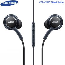 Samsung AKG Earphone EO-IG955 Mengepang Tali 3.5 Mm MIC/Kontrol Suara untuk Galaxy S7 S8 S9 S10 A30 a50 A70 Note 8 9(China)