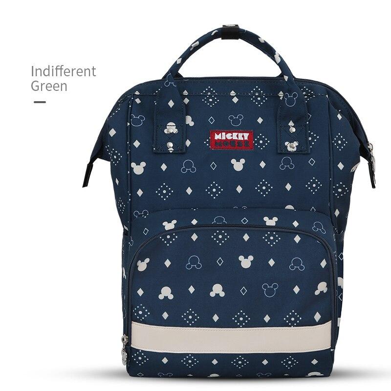 Disney Mickey Minnie Diaper Bag Backpack USB Large Capacity Mummy Diaper Bag Zipper Mother Maternity Nappy Bag Baby Stroller Bag