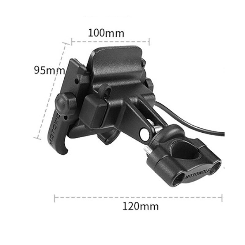 Motorcycle Bicycle Phone Holder with USB Charger Handlebar Bracket for Car Motorbike GPS Stand for 4-6 inch Mobile Phone