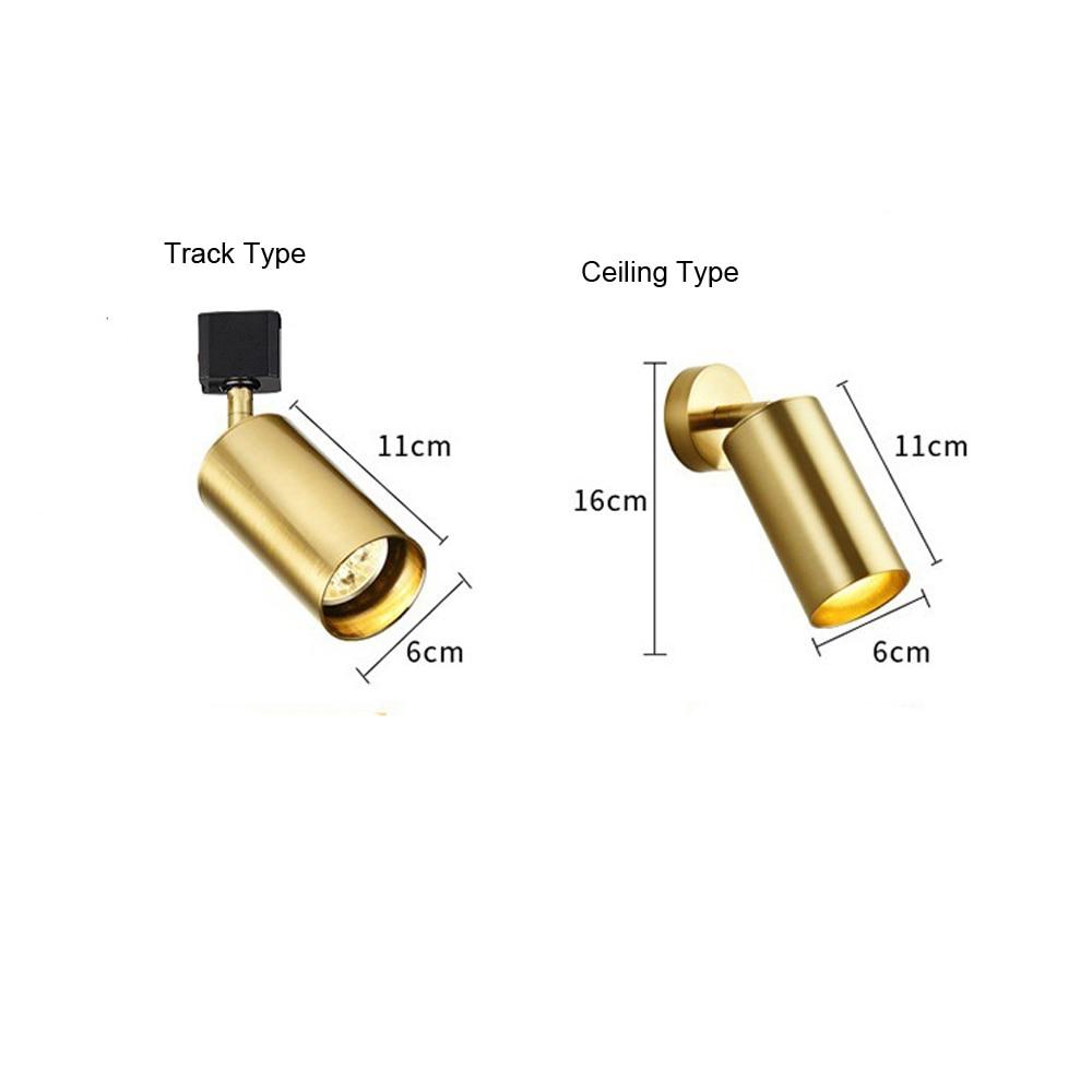 Gu10 기본 led 트랙 라이트 램프 골드/블랙/화이트 트랙 램프 조명 조명기구 스포트 라이트 상점 의류 매장 홈