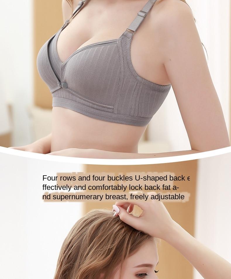 225# Sexy Wireless Gather Cotton Maternity Nursing Bras Breastfeeding Underwear for Pregnant Women Pregnancy Breast Feeding Bras