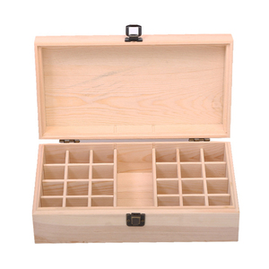 25 Slots Essential Oil Bottle Display Wooden Storage Box Container Organizer 10ml Oil Bottle Case Beauty store storage box