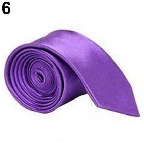 Moda Men�s düz renk düz bağları ofis iş giysisi üniforma parti kravat