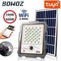 Tuya Smart life Outdoor Solar Camera HD 1080P Network IP65 Wiring Free LED Solar Street Light PIR Motion Sensor Spotlight lamp