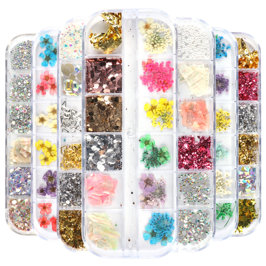 3D Dried Flower Nail Decoration 1