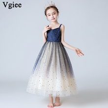 Vgiee Kids Dresses for Girls Wedding Baby Girl Clothes Age 4 To 10 Years Princess Dress Party CC586