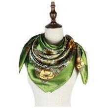 women hijab scarf elegant paisley silk shawl bandana fashion bufanda mujer stole arab red femme 90cm vintage