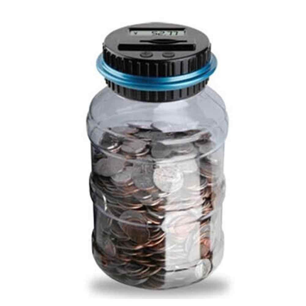 פיגי בנק כסף כספת Alcancia ברור דיגיטלי מטבע דלפק LCD ספירה צנצנת שינוי מתנה skarbonka spaarpot tirelire 2