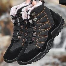 Зимние Модные теплые мужские туфли из хлопка с высоким верхом